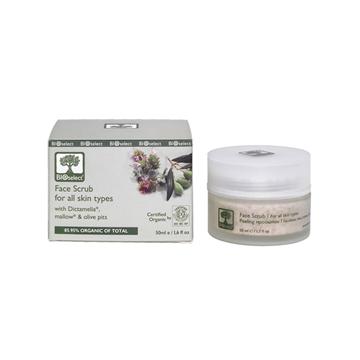Отшелушивающий скраб для лица (Face Scrub for all skin types) BIOselect Organic (Биоселект)
