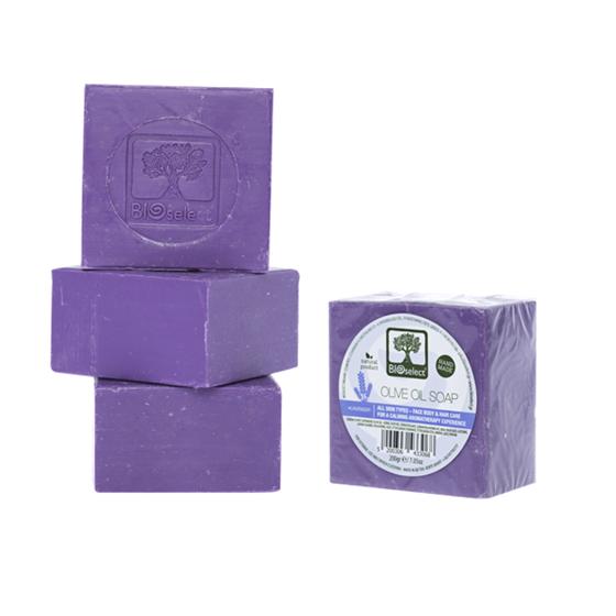 Натуральное мыло с оливковым маслом ароматом лаванды (Pure olive oil soap lavender) BIOselect Naturals (Биоселект) - фото 4586