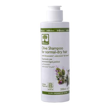 BIOselect Organic Шампунь для нормальных и сухих волос  (Olive Shampoo for Normal-Dry Hair, БИОселект)